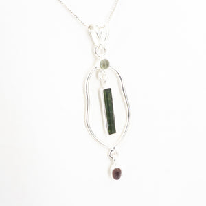 S/S Mix Tourmaline Pendant