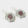 Sterling Silver Watermelon Tourmaline Earrings