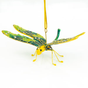 Dragonfly Ornament Yellow and Green