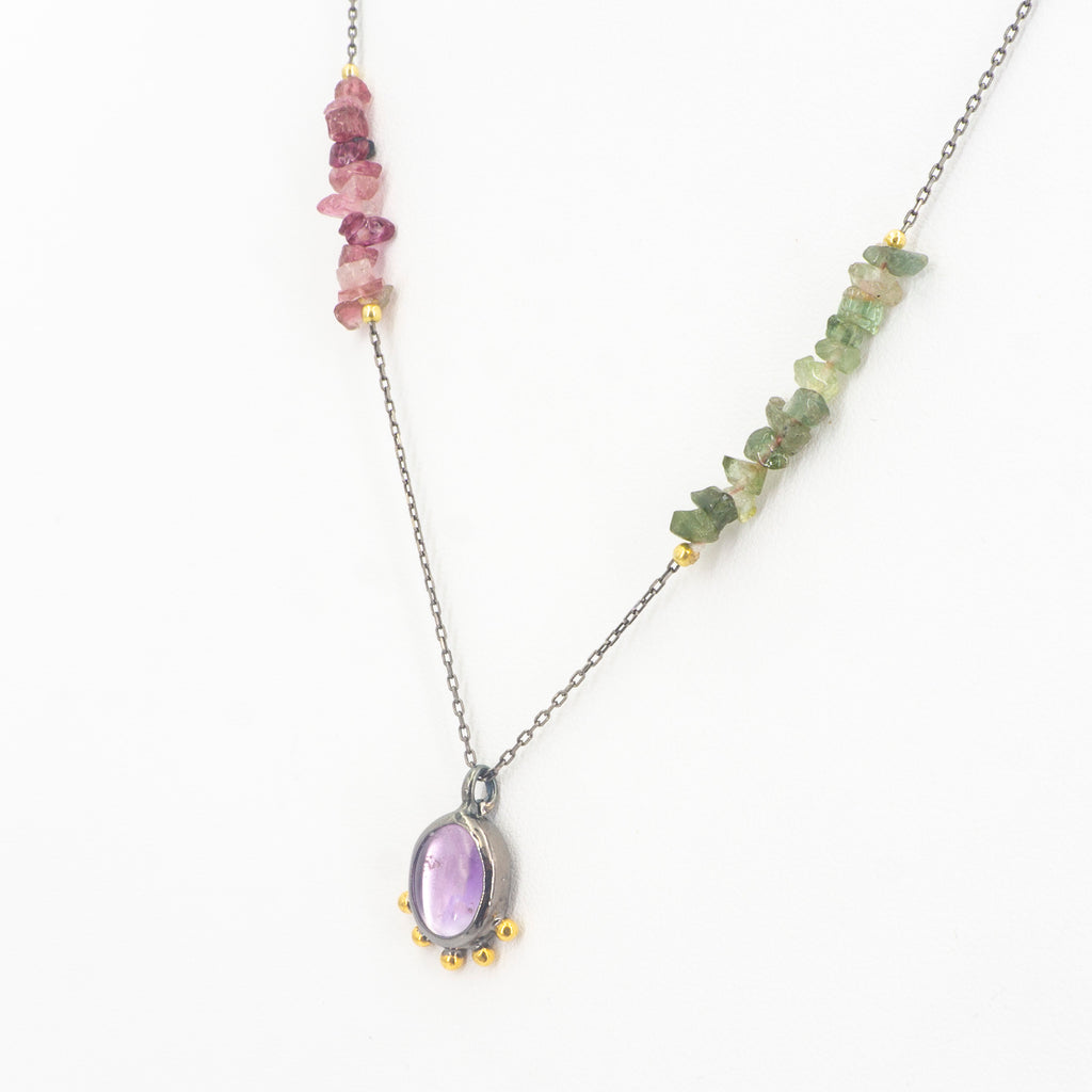 S/S Mixed Tourmaline Necklace
