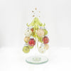 "6"" Glass Holiday Tree With Pale Ornaments"