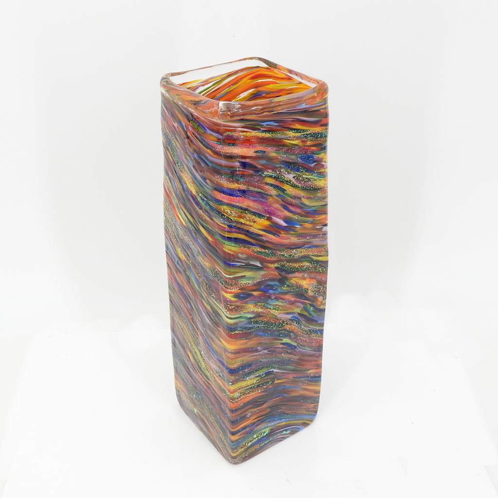 Square Hand Blown Vase