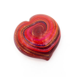 Red Swirl Heart Paper Weight