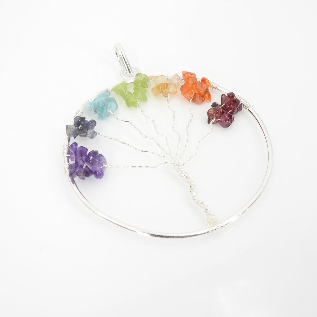 Tree of Life Gemstone Ornament
