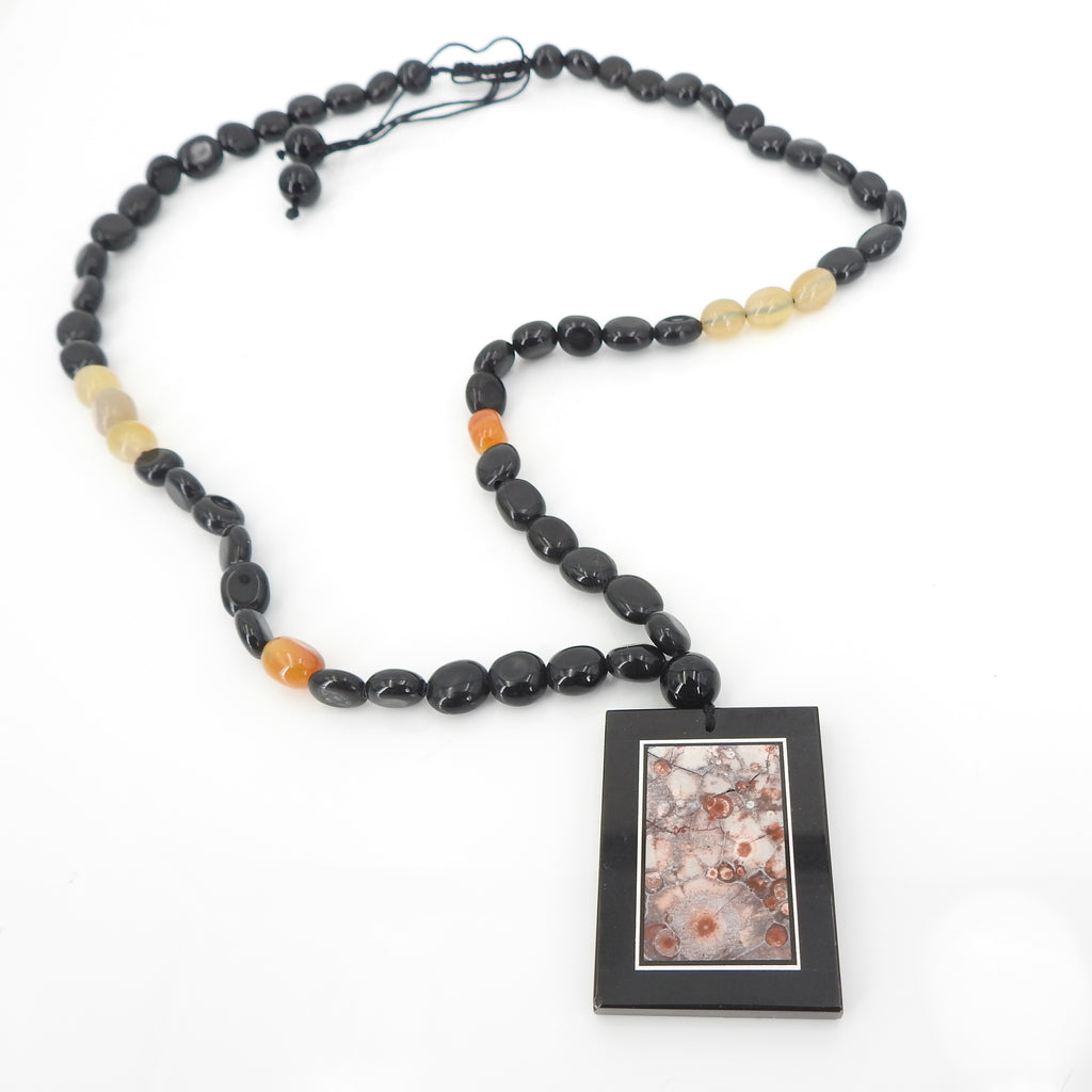 Paradise Agate Beaded Necklace