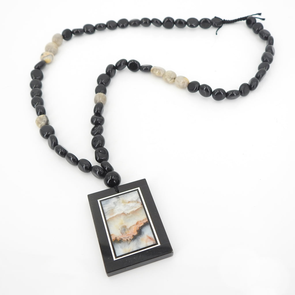 Banded Jasper Black Calcite Inlay