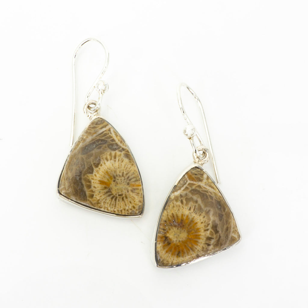 S/S Fossilized Coral Earring