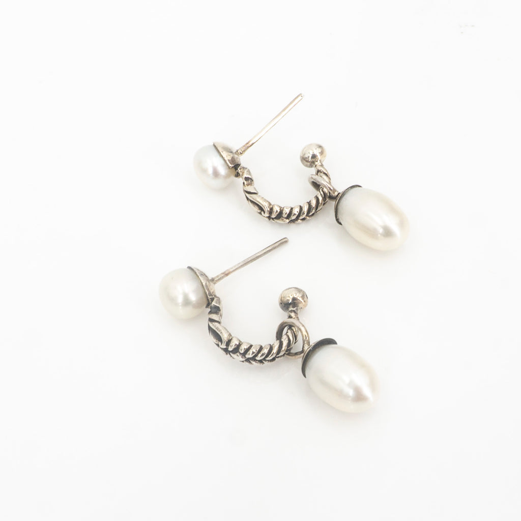 S/S Double Pearl Earrings