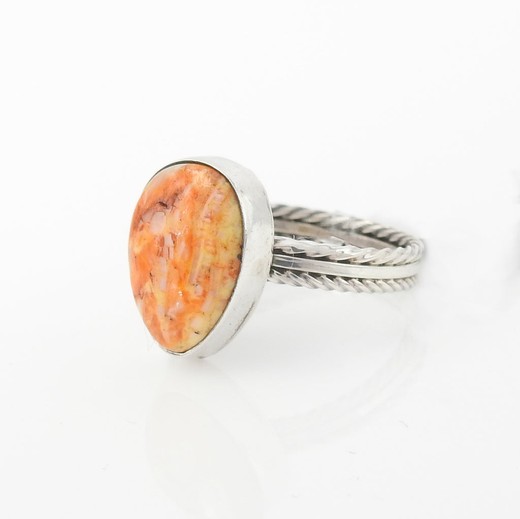 Sterling Silver Spiny Oyster Ring