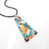 S/S Inlay Pendant Necklace