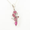 S/S Pink Tourmaline and Quartz Pendant