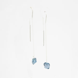S/S Blue Topaz Chain Earring