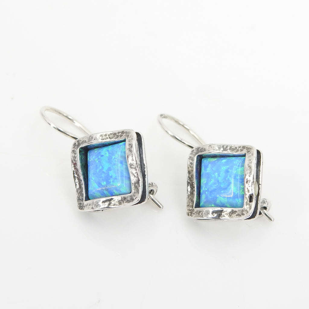 S/S Lab Opal Square Earrings