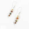 S/S Mixed Amber 4 Stone Earring
