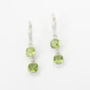 S/S Faceted Peridot Earring