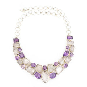 S/S Kunzite Amethyst Necklace