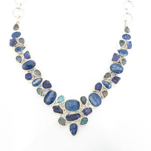 S/S Kyanite Tanzanite Necklace
