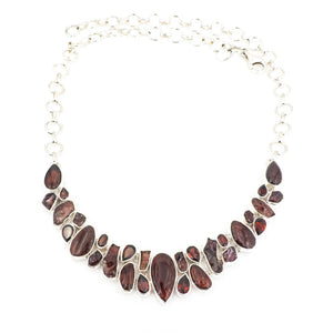 S/S Garnet Necklace