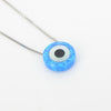 S/S Created Opal Evil Eye Necklace