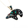 S/S Bear W Galaxy Inlay Pendant