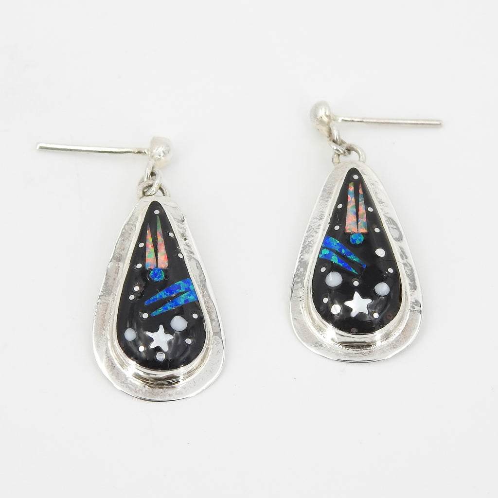 Sterling Silver Solar Inlay Earrings