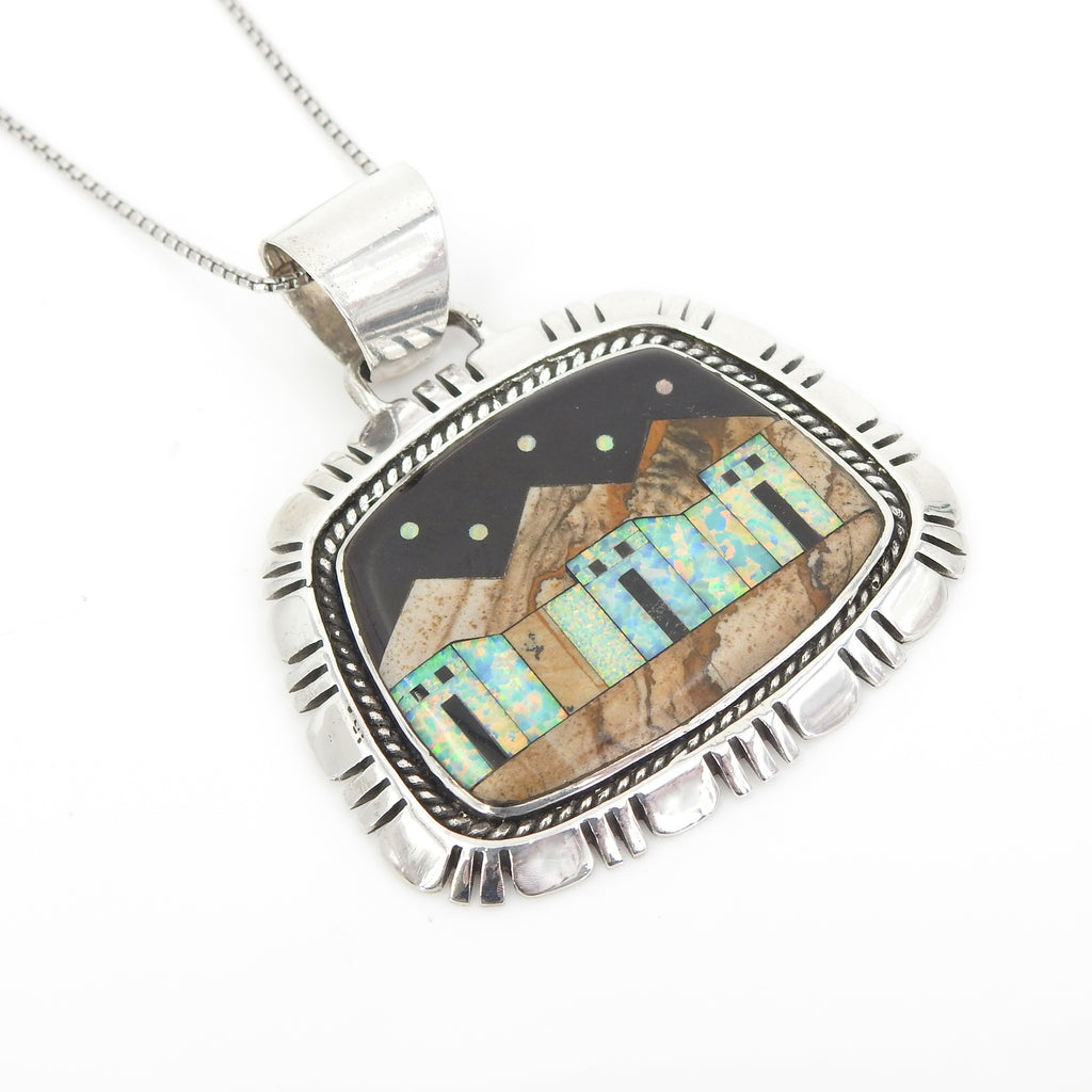 Sterling Silver Inlay Pendant