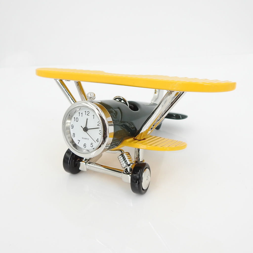 Plane Clock Green/Yellow