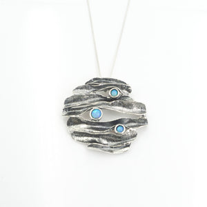 S/S 3 Lab Created Opal Necklace