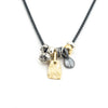 S/S Two Tone Multi Charm Necklace