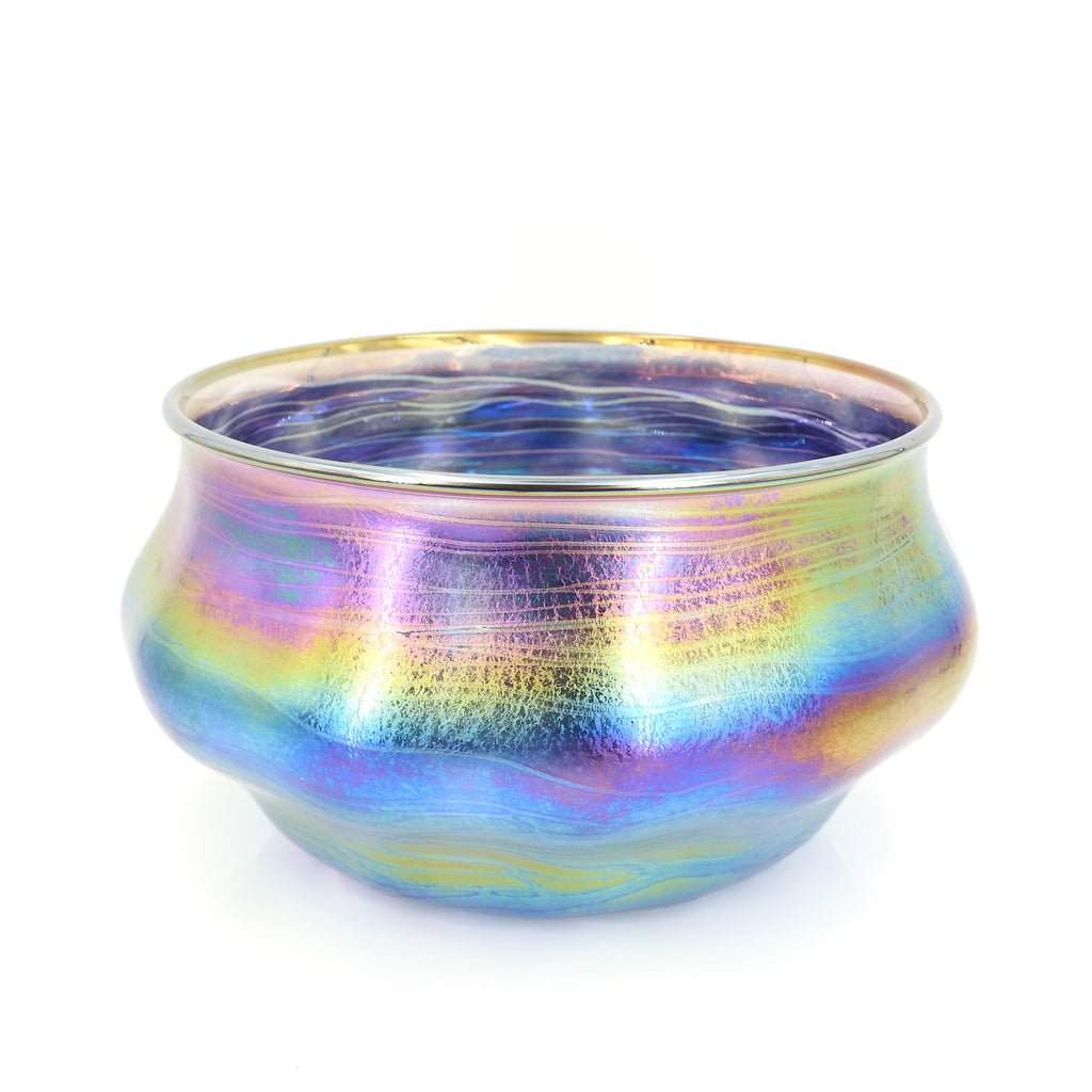 Scallop Iridescent Vase Bowl