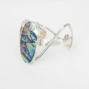 Sterling Silver Abalone Shell Cuff