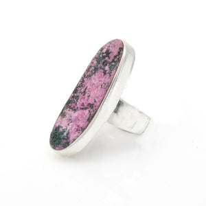 Sterling Silver Cobalt Calcite Ring SZ 10