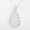Sterling Silver Large Rainbow Moonstone Pendant