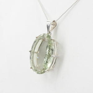 Sterling Silver Green Amethyst Pendant