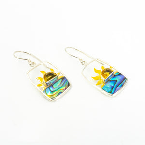 S/S Sun W Citrine and Abalone Earring