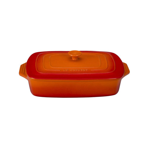 LC Covered Casserole Rectangle 3.3L Flame | Desiree.ca