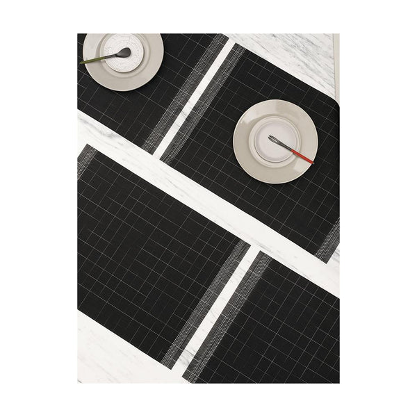 Chilewich Placemat Selvedge Black/White | Desiree.ca