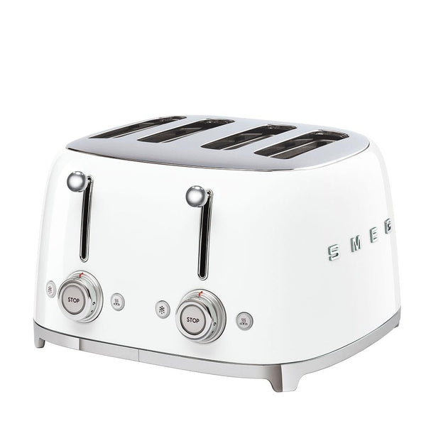SMEG Toaster 4 Slot White | Desiree.ca