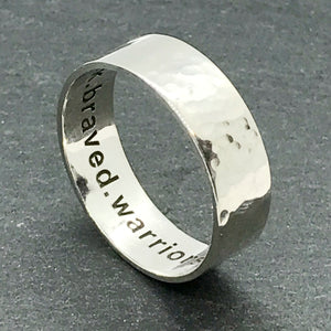 Mens Hammered what3words Ring - As seen in GQ Magazine!