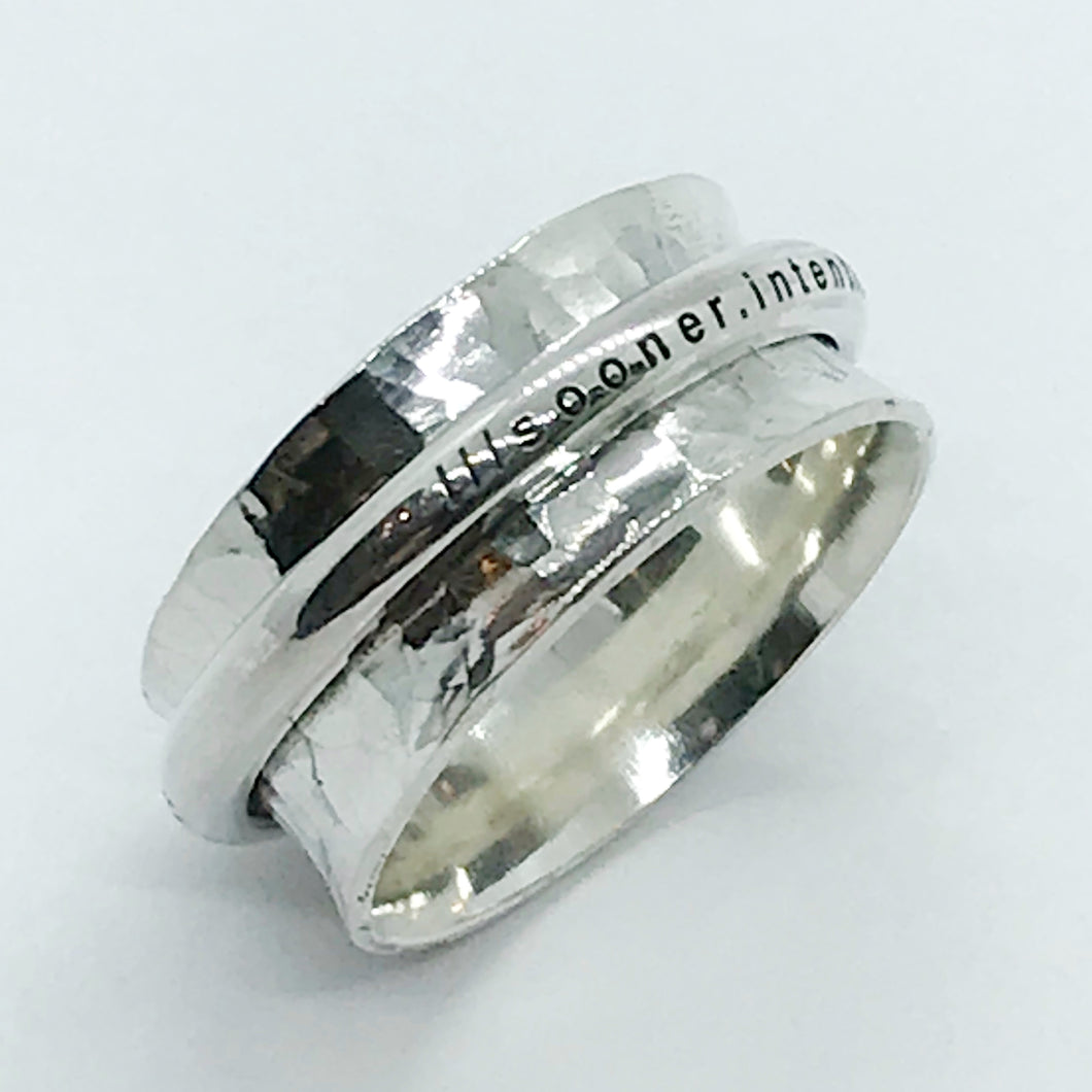 what3words Spinner Ring