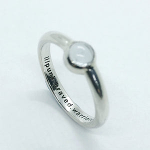 Topaz what3words Ring in Sterling Silver