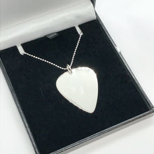 Load image into Gallery viewer, Guitar Pick Pendant with Sterling Silver Ball Chain