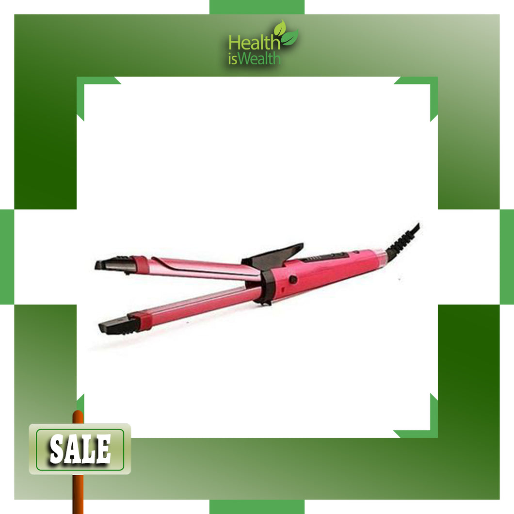 2 in 1 Hair Iron (Straightener and Curler)