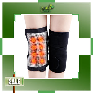1-PAIR MAGNETIC THERAPY KNEE PADS - SELF-HEATING WITH TOURMALINE