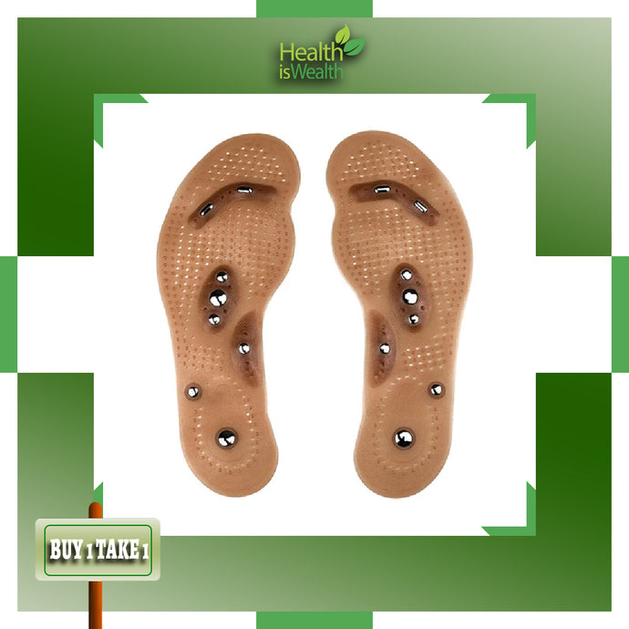 (BUY 1 Pair & TAKE 1 Pair FREE) Magnetic Acupuncture Massaging Insole (UNISEX)