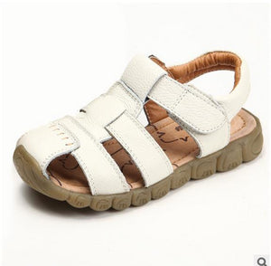 Children Shoes Genuine Leather boys Sandals Single toddler boy gladiator Shoes