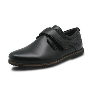 Children's Pu Leather Boys Shoes Spring & Autumn Black Flat Kids School Dress Shoes