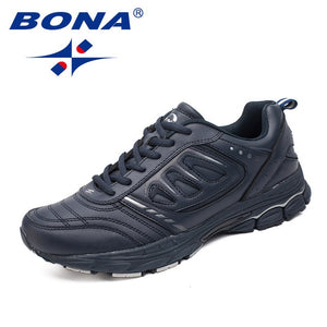 BONA New Style Men Running Shoes Ourdoor Jogging Trekking Sneakers Lace Up Athletic Shoes