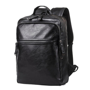 Leather Backpack High Quality Youth Travel Rucksack School Book Bag