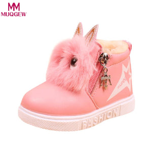 2018 Cute Winter Baby Boots Soft Velvet Sneakers